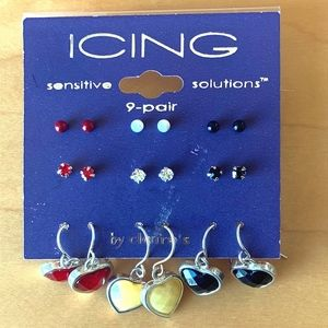 J64  New with tags 9 pairs of earrings